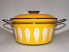 "CATHERINEHOLM Norway 8.5"" Stock Pot Dutch Oven Yellow Lotus Beautiful !"
