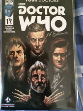 Doctor who four doctors  head cover  titan comic 01  signed by writer and artist
