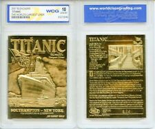 1912 TITANIC *Worlds Largest Ship* 23 Karat GOLD Card - Graded GEM-MINT 10