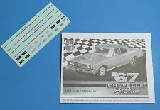 AMT 1967 Chevelle Pro Street Decals & Instructions 1/25