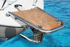 Osculati Stainless Steel & Teak Simple Dolphin Striker 750x500x330mm