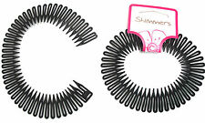 2 Black Flexi Zig Zag Band Comb Grip
