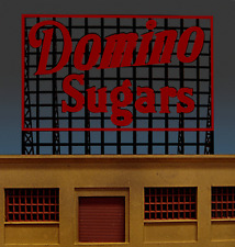 DOMINO SUGARS ANIMATED NEON BILLBOARD SIGN HO/N-SCALES -LIGHTS-FLASHES & MORE!!