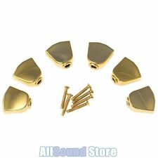 NEW (6) GOLD Keystone / Tulip Buttons & Screws For Grover Tuners Tuning Keys