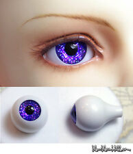 14mm acrylic doll eyes glitter purple color full eyeball bjd dollfie AE-47