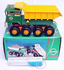 Gama Germany FAUN 8-WHEELED TIPPING DUMP TRUCK RC Battery Operated MIB`74 RARE!