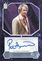 Topps 2015 Doctor Who Peter Davison as 5th Doctor Blue Parallel Auto Card 19/50