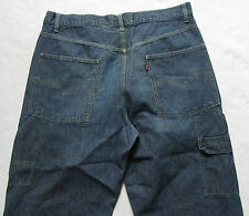 Levi's Men's Cargo Carpenter Dark Wash Jeans - No Tag/Measured 37x24 (Hemmed)