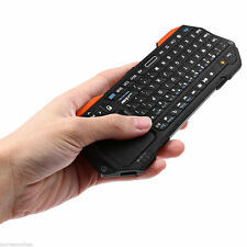 Backlit Slim Wireless Portable Mini Bluetooth Keyboard With Touchpad L/R Mouse
