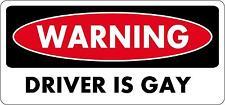 Pegatina sticker adhesivo moto coche tuning warning this driver is gay