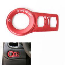 Aluminum Red Fog Headlight Button Switch Trim Cover Decor Frame for Cherokee15+
