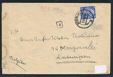 82874) DR  Breslau, K2 auf Brief 1941? an Graf.. Belgien OKW-Verschluss