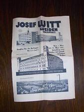 alter Katalog Josef Witt Weiden Oberpfalz 1931 32x22cm