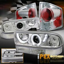 Chrome 6 Item Set 98-04 Chevy S10 Halo LED Projector Headlight+Tail Light+Signal