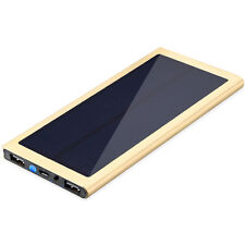 Gold Ultrathin 50000mAh Solar Power Bank Dual USB LED Zusatzakku Für Smart Phone