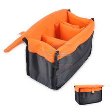 New Insert Padded Camera DSLR Inner Folding Divider Partition  Case  Orange