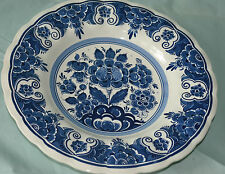 BLAUW DELFTS SCR DISTEL HAND PAINTED IN HOLLAND PLATE/BOWL