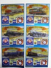 Lionel Train Locomotives Mint  Instant Lottery Ticket Set of 6 diff, unique