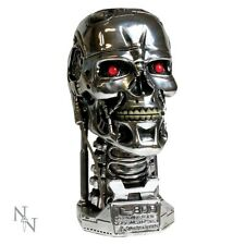 Terminator 2 Head Stash Box, T-800 silver skull ornament by Nemesis Now B1427D5