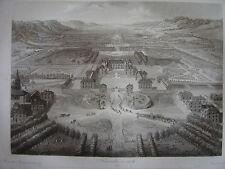 Grande gravure Vue générale de VERSAILLES en 1664