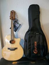 Crafter M77E/N electro-acoustic Mandolin, padded gigbag new & waranteed