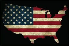USA FLAG POSTER with STARS AND STRIPES collectors PATRIOTIC political 24X36