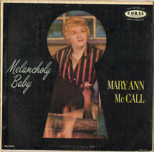 "MARY ANN McCALL / JOHNNY RICHARDS ""MELANCHOLY BABY"" VOCAL JAZZ 50'S LP !"