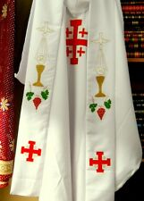 Jerusalem Cross Stole / Stola For Vestments Chasuble - Clergy Priest Church