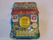 Tamagotchi RARE Gotchi Gear Tama Deco Ratchi Kit case stickers crystals yellow