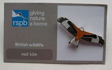 RSPB Red Kite Enamel Pin Badge. Giving Nature A Home.