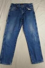 Wrangler 31MWZPW Faded Denim Jeans Tag Size 34x34 Measure 34x33 Cowboy