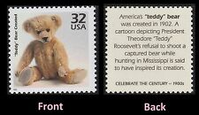 US 3182k Celebrate the Century 1900s Teddy Bear Created 32c single MNH 1998