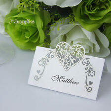 50x Name Place Cards Wedding Guest Names Table Cards,Favor,Laser Cut,white