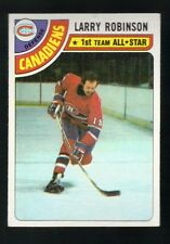 1977 - 1978 Topps Hockey Set LARRY ROBINSON Card