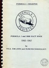 Formula ONE Register-Formula 1 e 3000 fatto BOOK 1985-87 Sheldon & RABAGLIATI