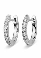 Charles & Colvard Moissanite Classic Round Hoop Earrings