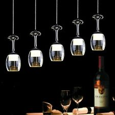 Modern LED Crystal Wine glasses Chandelier Ceiling Lights Pendant Lamp Lighting