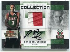 2009-10 Threads Collection Signatures 9 Brandon Jennings Rookie Patch Auto 21/25