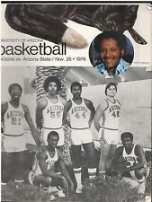 11/26 1976 UNIVERSITY OF ARIZONA ARIZONA STATE BASKETBALL PROGRAM FRED SNOWDEN