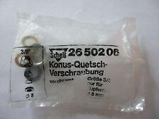 """Schell Konus-Quetschverschraubung  2650206 3/8"""" für 10mm Kupferrohr verchromt"""