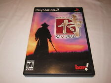 Way of the Samurai (Playstation PS2) Black Label Original Complete Excellent!