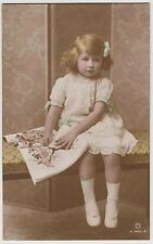 "POSTCARD - actress Gladys Cooper's little daughter Joan ""British Child"""