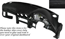 BLACK STITCH DASH DASHBOARD LEATHER SKIN COVER FITS MITSUBISHI GTO 3000GT 92-99