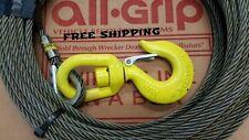"""3/8"""" X 50' Steel Core, Wire Rope With Swivel Hook. Wrecker,Rollback."""