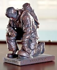 Called to Pray Praying Firefighter Fireman Tabletop Sculpture Inspirational Gift