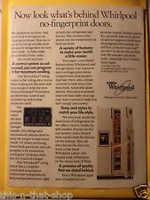 WHIRLPOOL REFRIDGERATORS Magazine AD 1985 FREE SHIPPING $2 OFF EACH