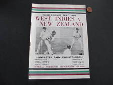 West Indies v New Zealand Cricket Test 1969 Programme