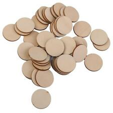 50x3mm PLAIN WOODEN CIRCLE ROUND DIY CRAFTS CARD MAKING EMBELLISHMENTS 25PCS