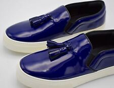 New~Celine Women's Ocean Blue Slip On Sneakers with Tassel Size 39 / 9 RTL$800!