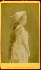 NADAR CDV photo vintage albumen Mademoiselle Hading circa 1880 CDV photo Paris